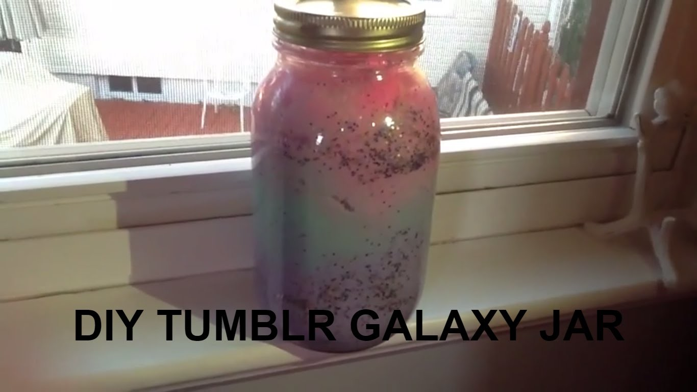 DIY Tumblr Galaxy Jar