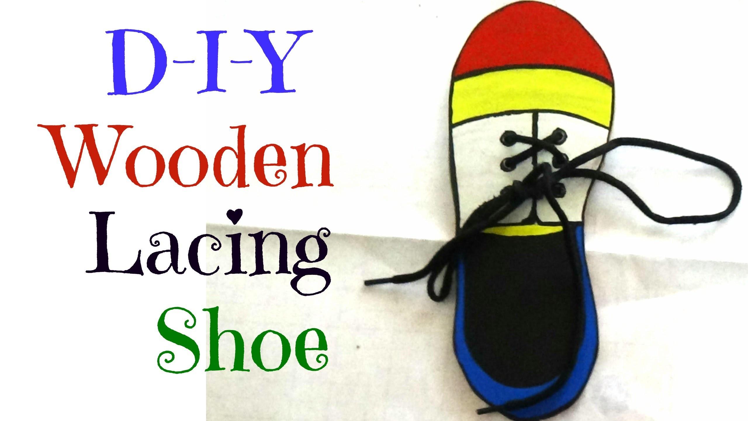 DIY Wooden Lacing Shoe