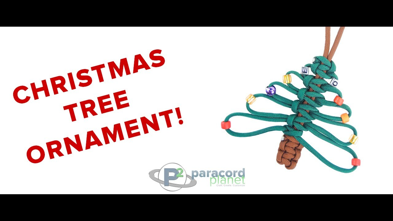 How To Make A Paracord Christmas Tree Ornament - Paracord Planet Tutorial