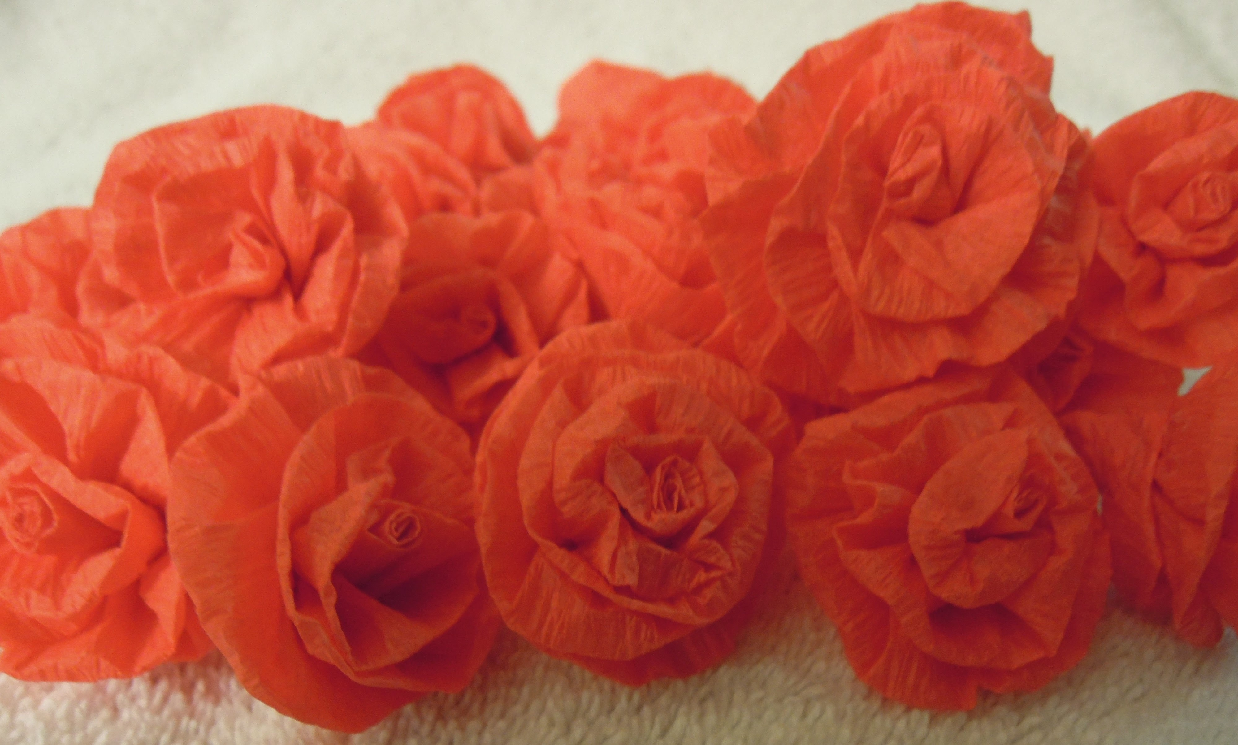 How to make easy Paper streamer Roses tutorial