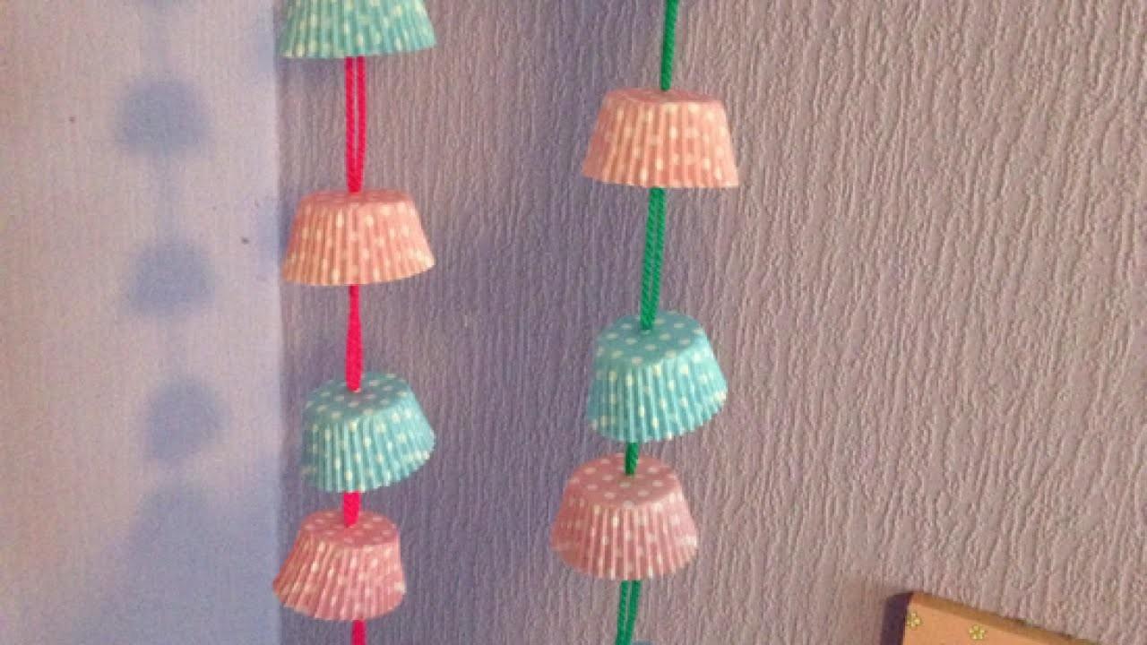 Make a Cute Cupcake Liner Garland - DIY Home - Guidecentral