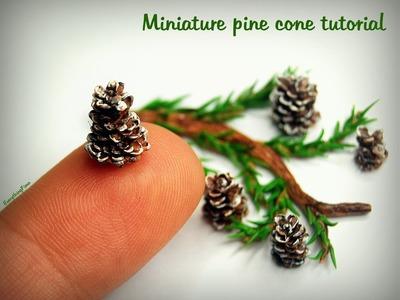Miniature pine cone tutorial