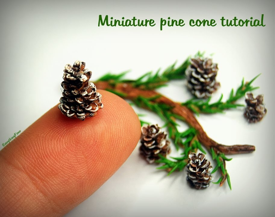 Miniature pine cone tutorial
