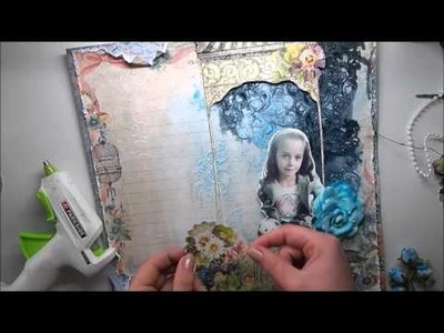 Mixed Media background TUTORIAL 'Fall Memories' for My Creative Scrapbook
