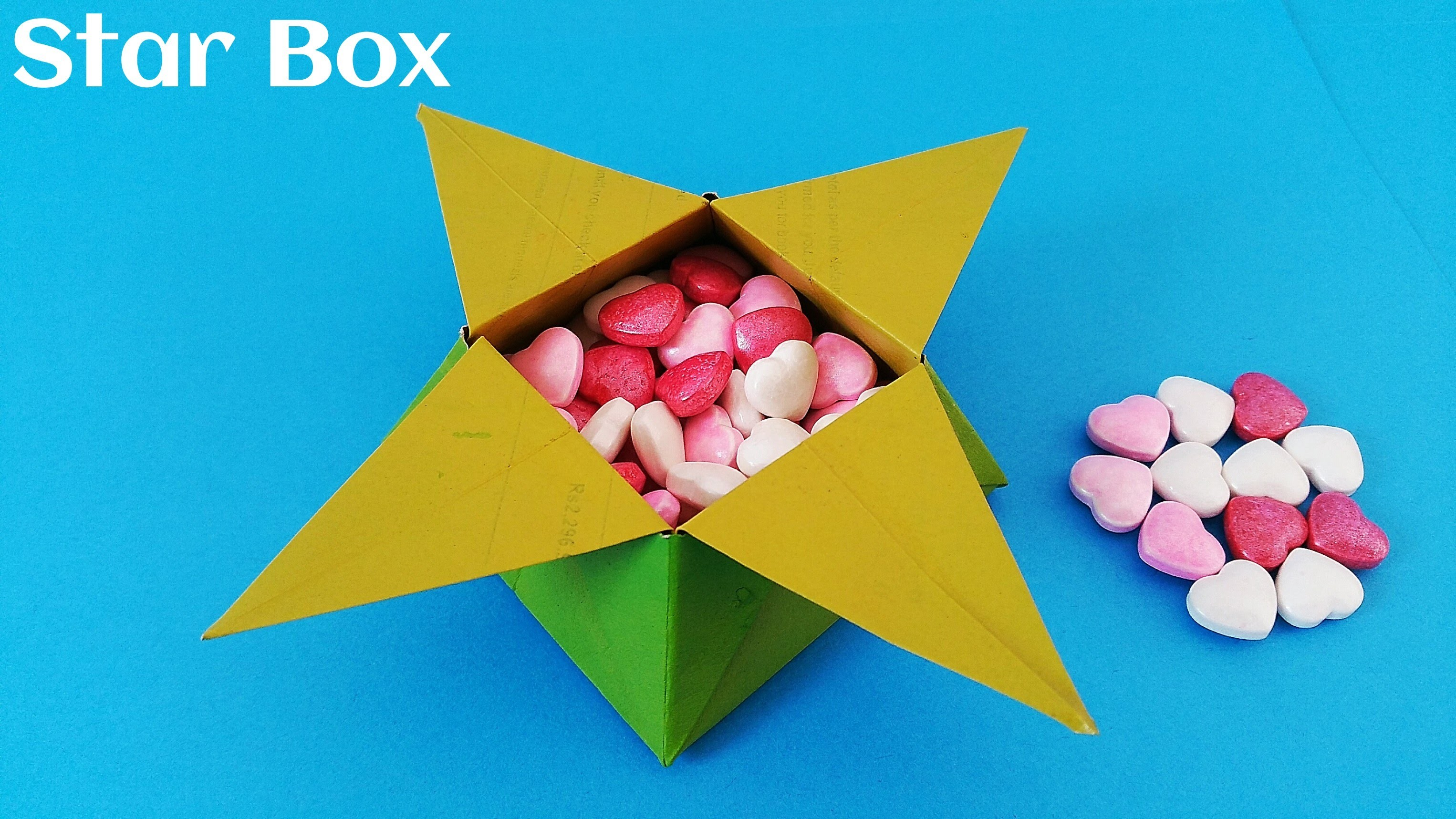 """Origami Paper Tutorial - """"Traditional Star Box"""