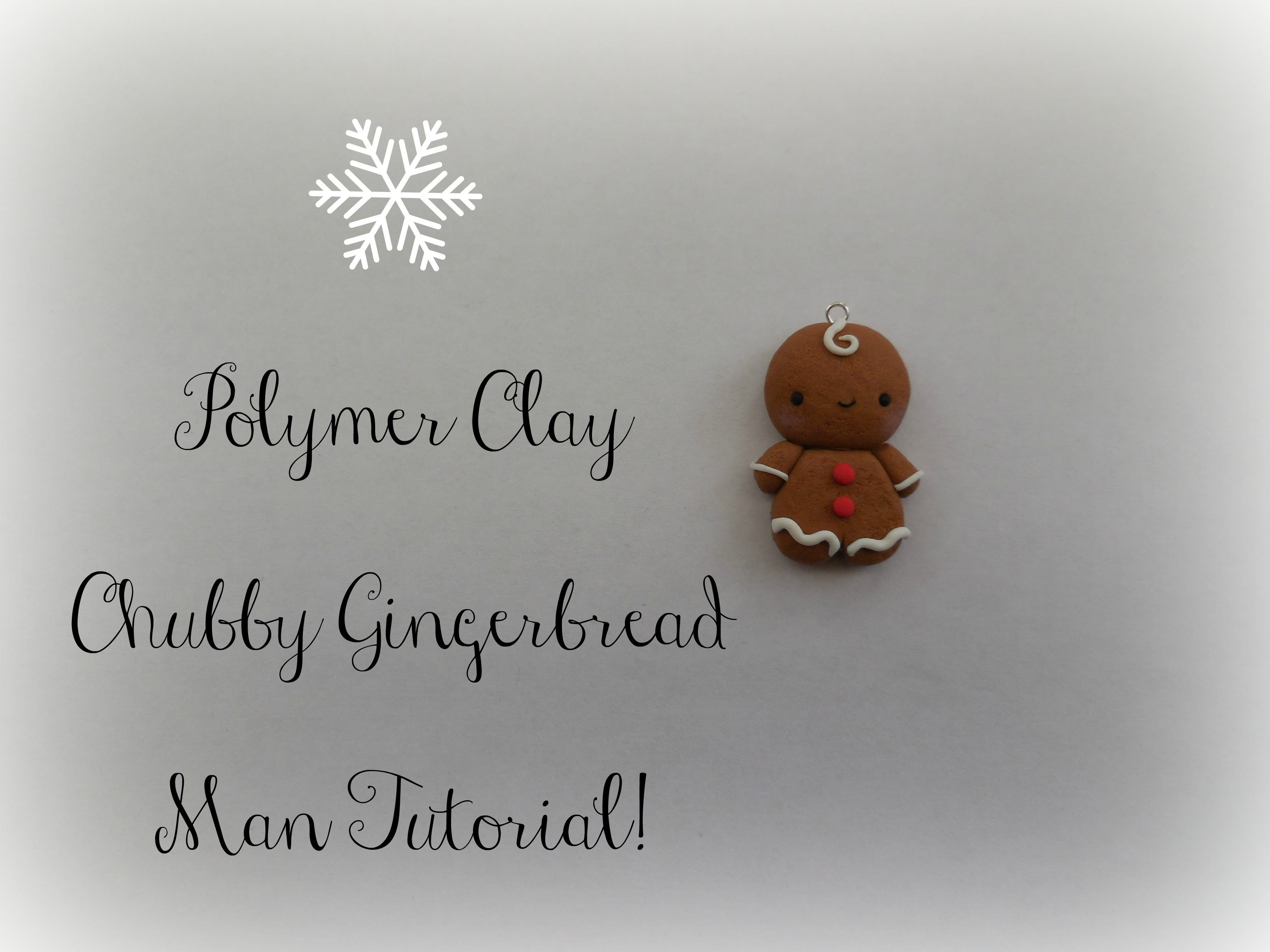 Polymer Clay Chubby Gingerbread Man Tutorial || Christmas Series