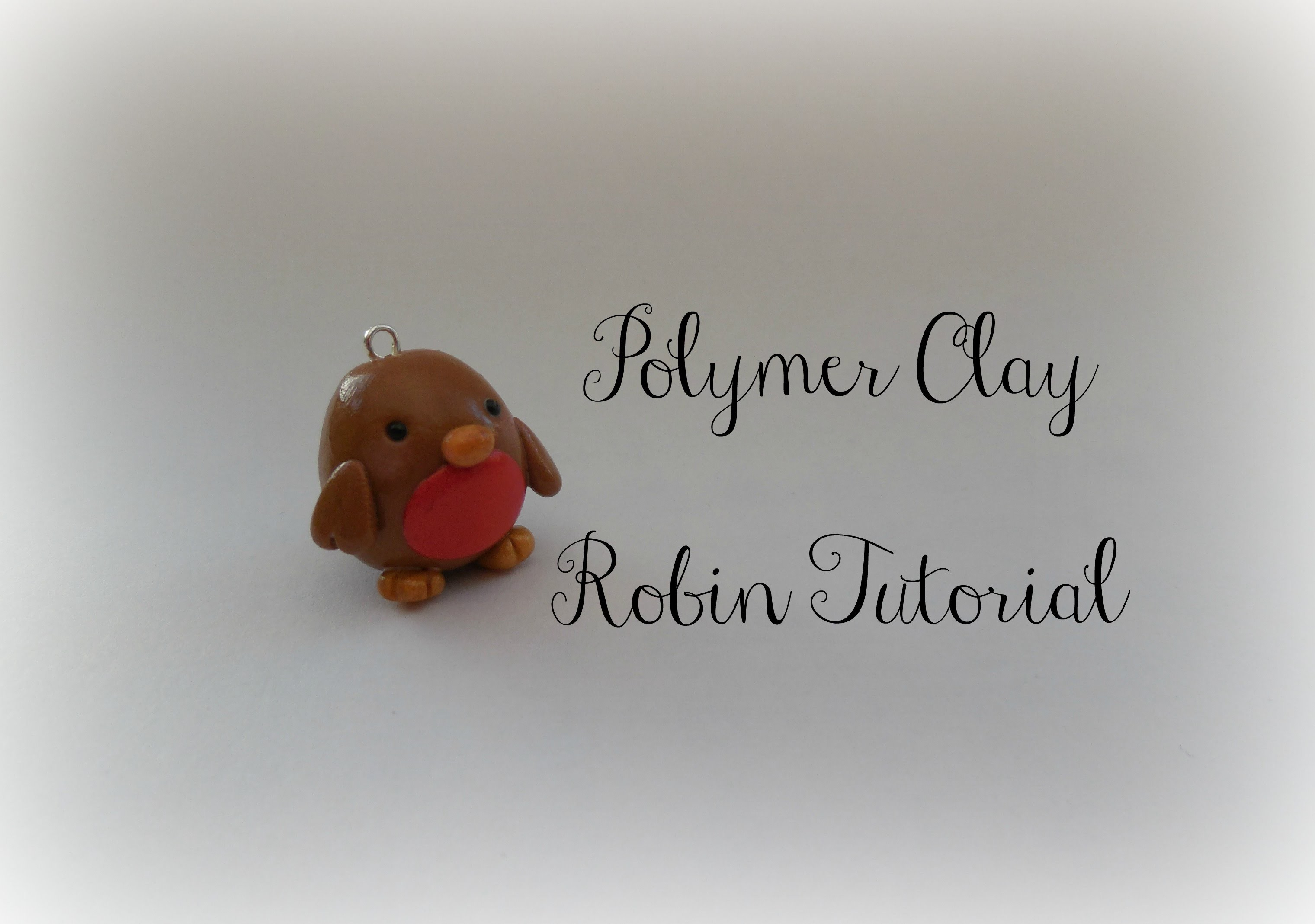 Polymer Clay Chubby Robin Tutorial || Christmas Series