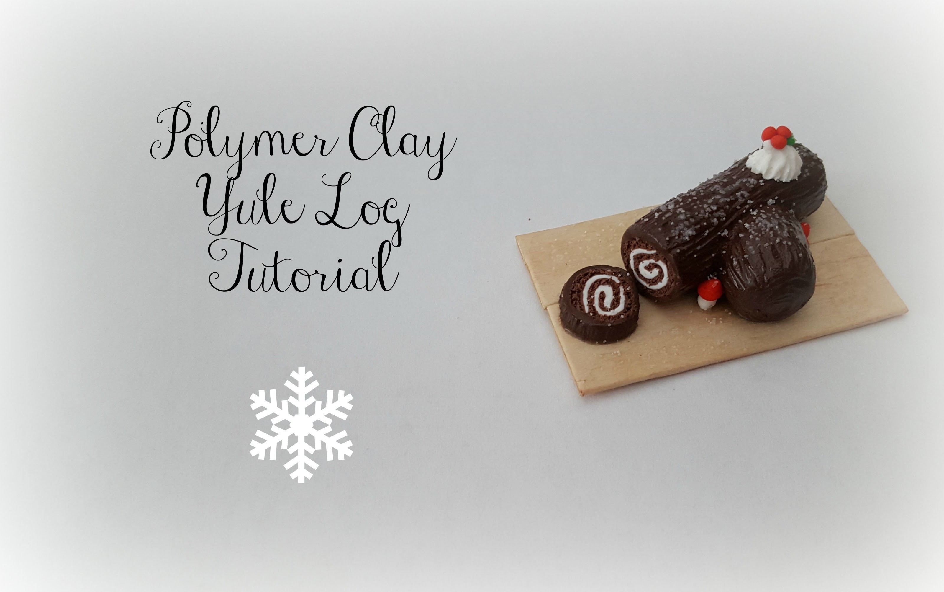 Polymer Clay Yule Log Tutorial || Christmas Series