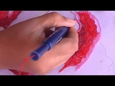 Punch needle embroidery tutorial with ultra punch needle
