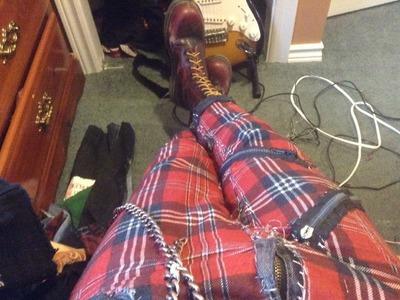 Punk DIY Ep. 2 - Plaid pants