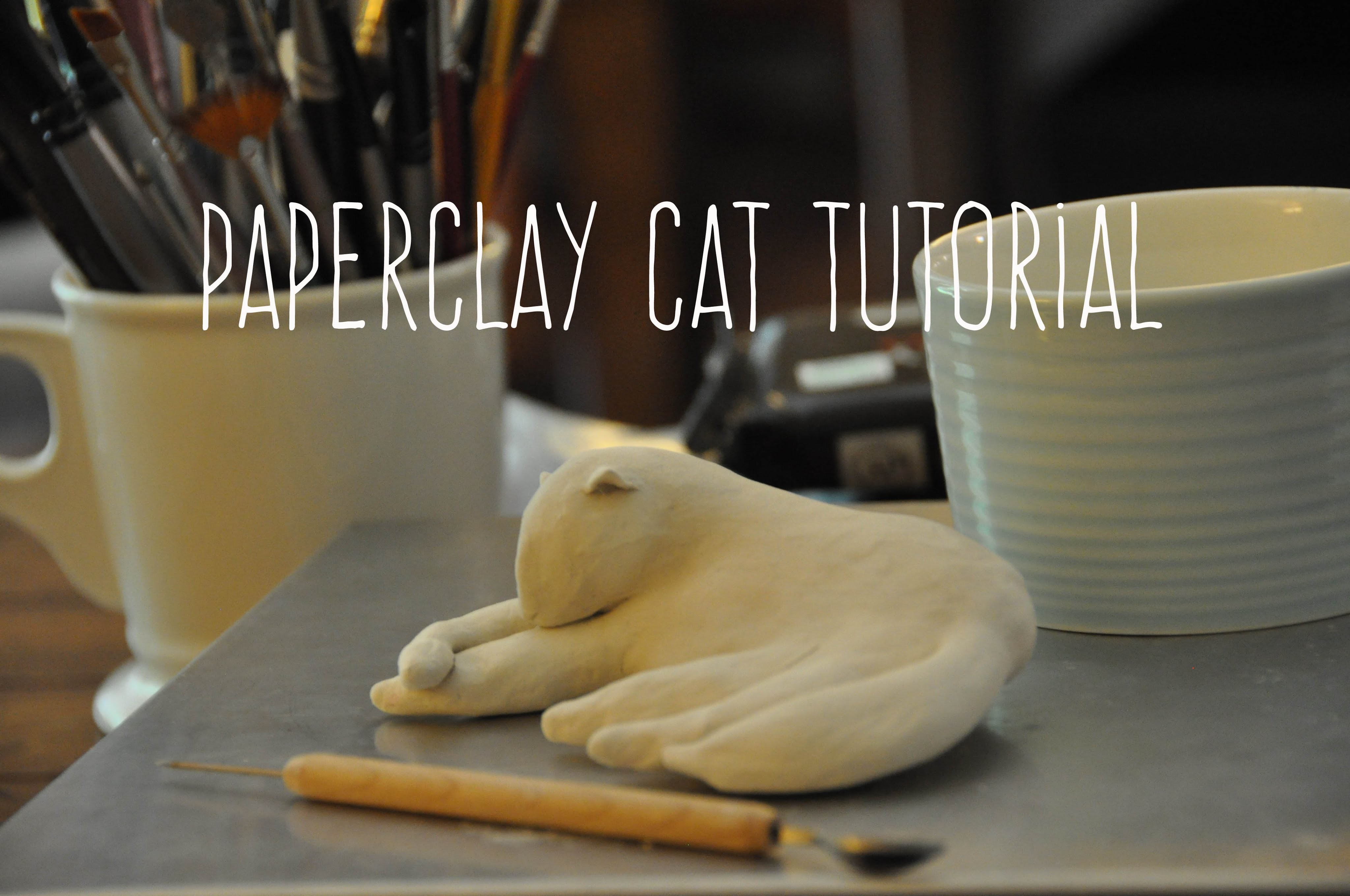 Sculpting A Cat | Creative Paperclay Tutorial | Emma Will