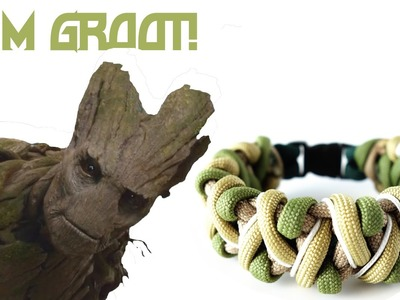 Solomon's Fire Groot Themed Paracord Bracelet Tutorial