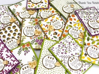 Stampin' Up! September Thank You Gift Notebooks Tutorial