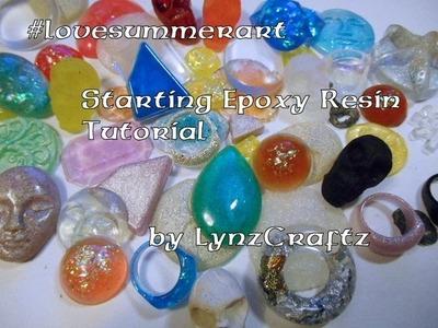 Starting with Epoxy Resin tutorial #lovesummerart