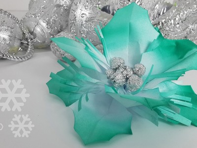 Tutorial: How to Male Paper and Aluminum Foil Holly Berries Decoration for Christmas