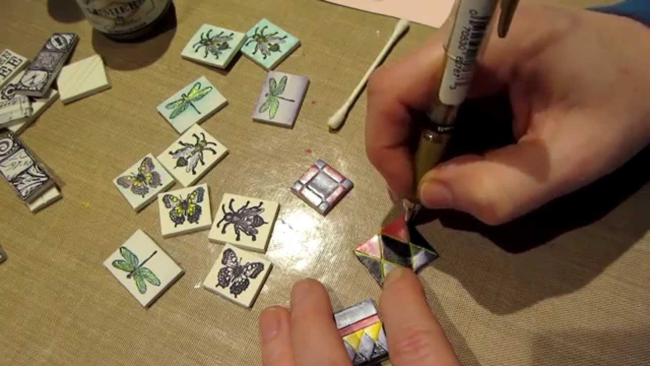 Tutorial: Painted Clay Tiles ☆ Handicraft Ideas