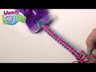 Tutorial Weavy Loops 2 colors bracelet