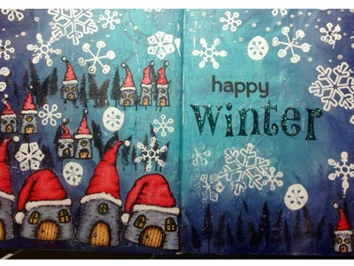 Whimsical Winter Wonderland - Art Journal Page Tutorial | Pink at Heart