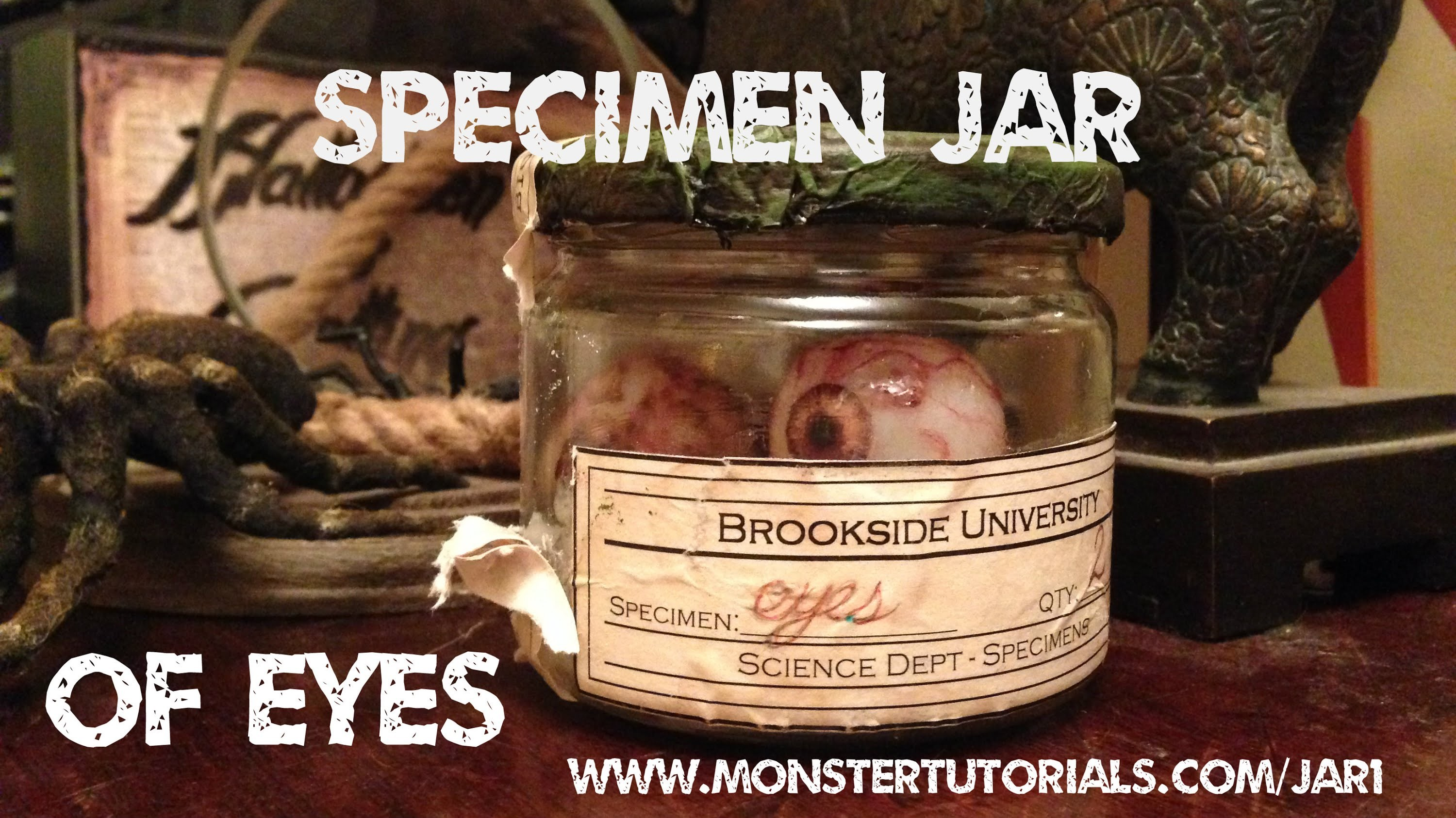 Www.monstertutorials.com - Vintage Specimen Jar Of Eyeballs Tutorial