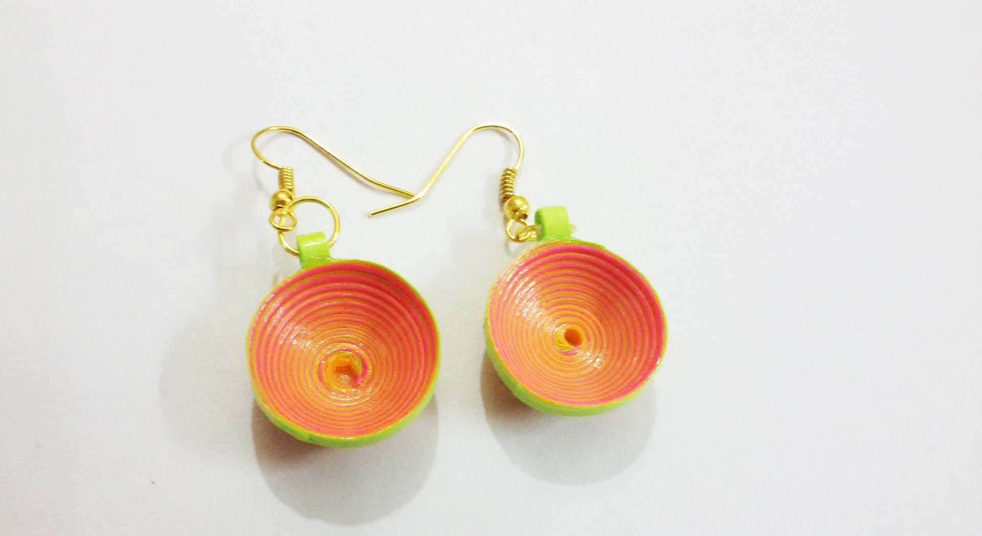 59. Neon Color 3D Quilling Earrings Tutorial