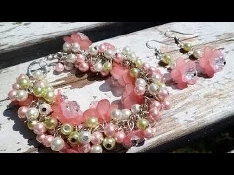 Art Jwelry Making Tutorial ||Butterfly Rose Garden Bracelet and Earring Set Part-1 || STS