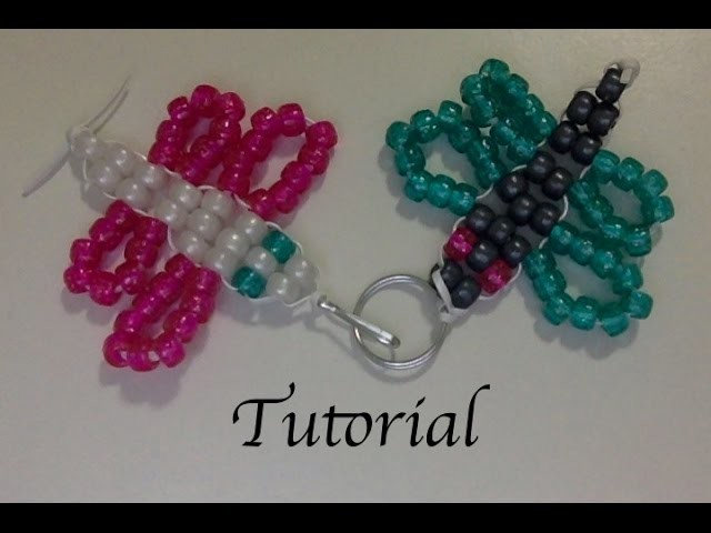 Beaded Butterfly Keychain Tutorial