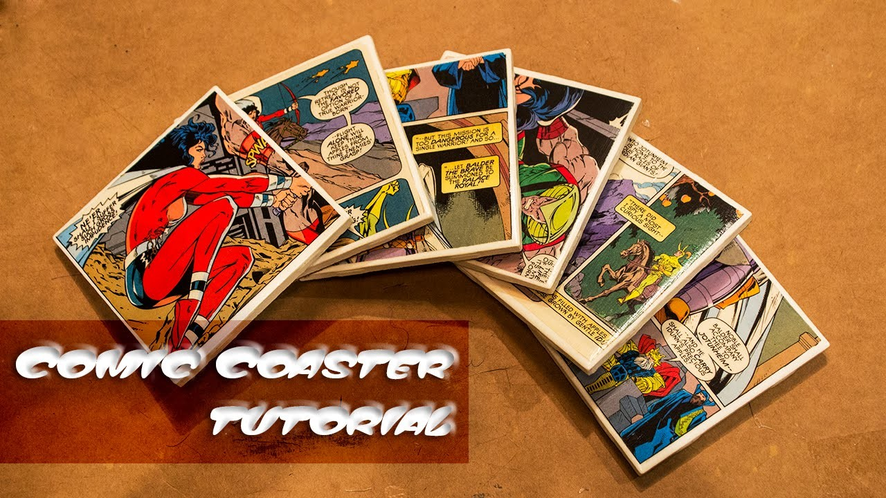 Comic Coasters Tutorial! Last Minute Holiday Gift Ideas