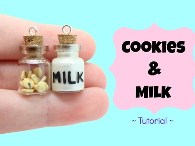 Cookies and Milk ♥ Bottle Charms Tutorial! | Kawaii Polymer Clay