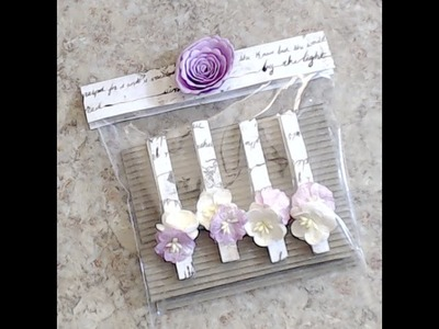 CRAFT FAIR|TEACHER|CO-WORKER GIFTS {TUTORIAL SERIES} #5 {MAGNETIC CLOTHESPINS}