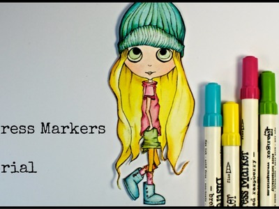 Distress Markers tutorial