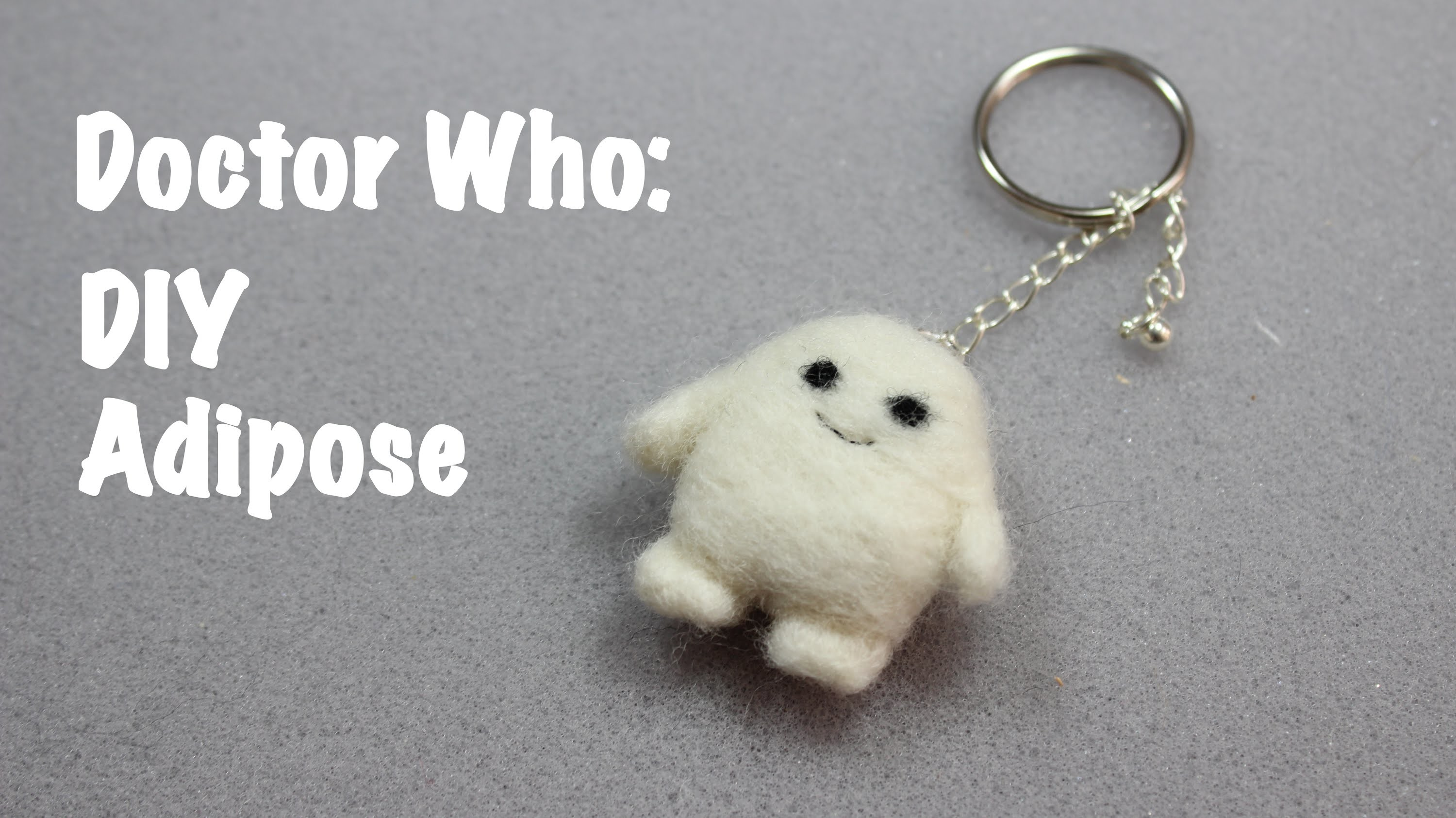 DIY Adipose from Doctor Who Needle Felting