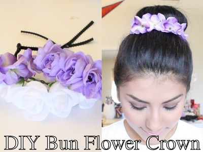 ♥DIY Bun Flower Crown♥