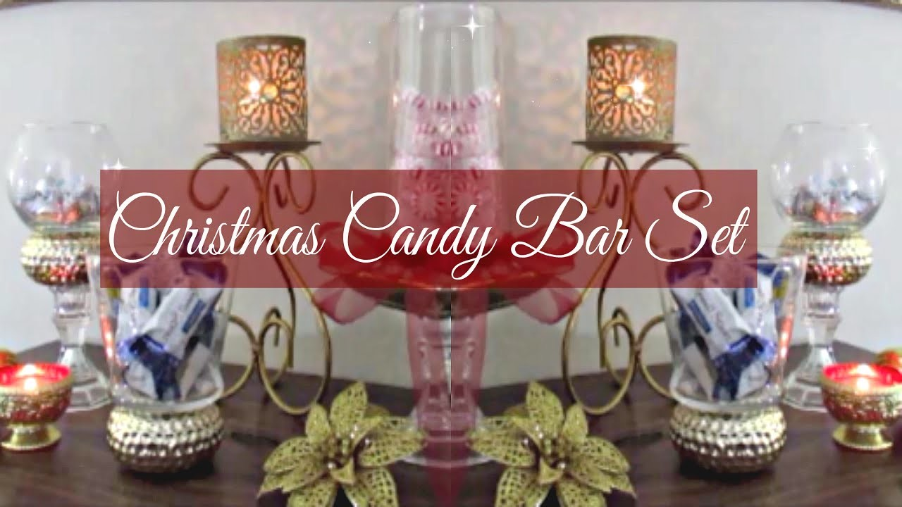 DIY Christmas Candy Dish Set & Bar
