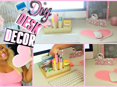 ♡DIY Desk Decorations + Organization! Make Your Desk Super Cute & Girly♡ | BrianaLeeBeauty |