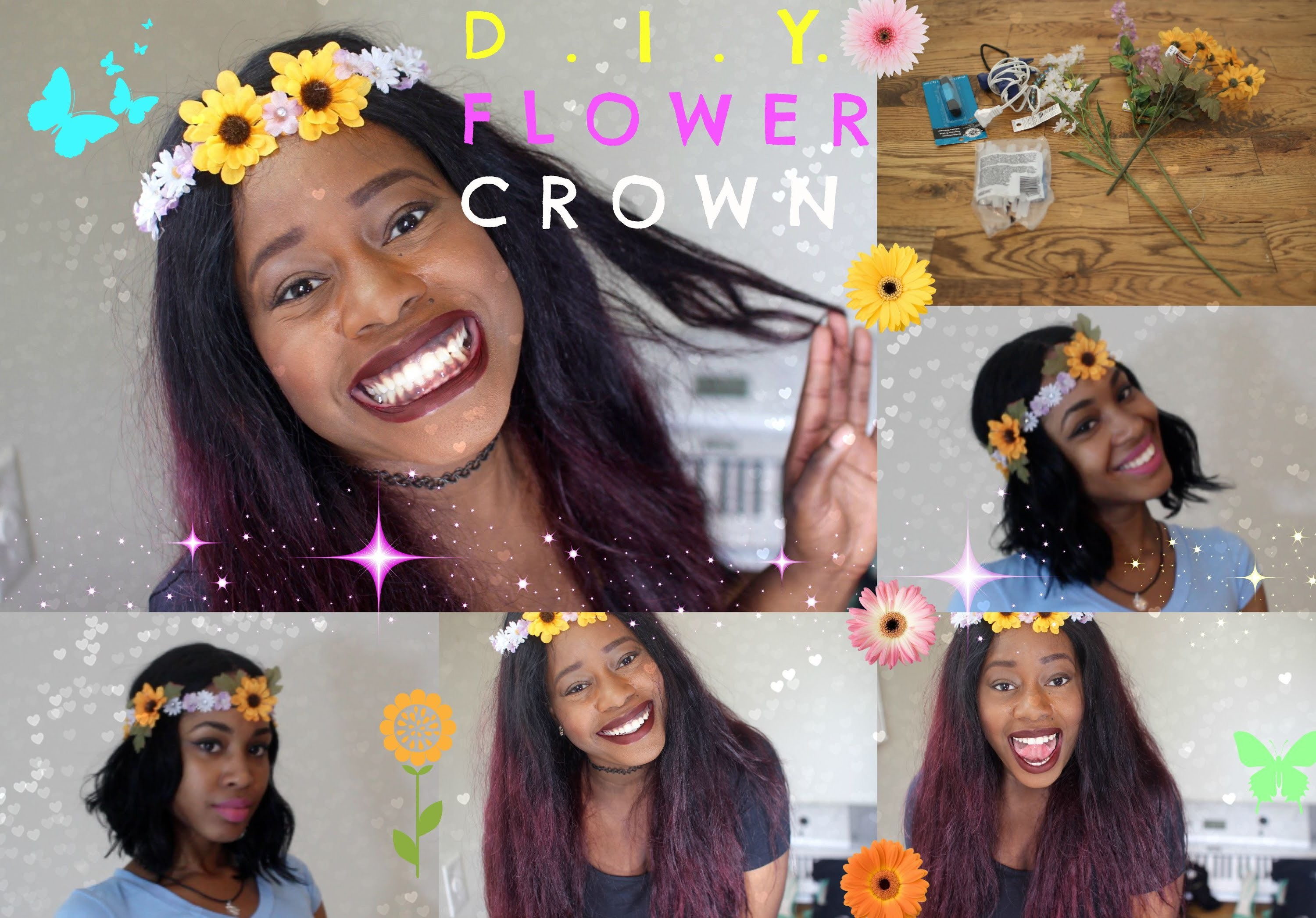 DIY Flower Crown. Headband