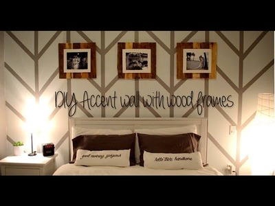 DIY Herringbone Accent Wall with Upcycled Wooden Frames