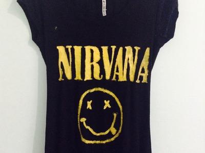 DIY Nirvana shirt