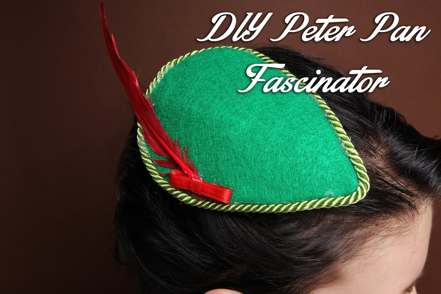 DIY Peter Pan fascinator hat