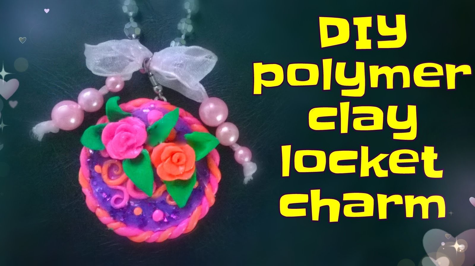 DIY Polymer clay locket charm tutorial