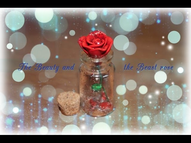 Diy: Tutorial The Beauty and the Beast ROSE using polymer clay!