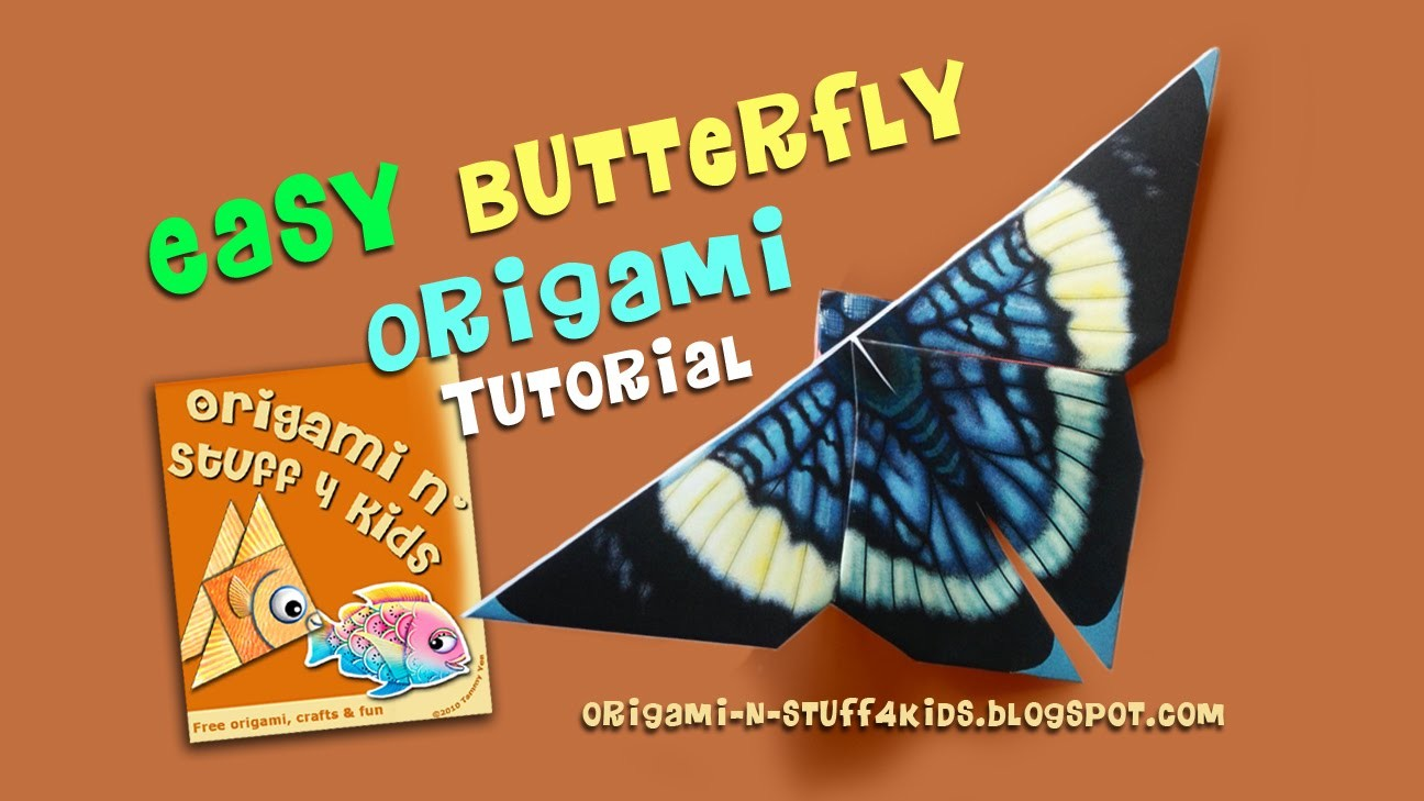 Easy Butterfly Origami Tutorial