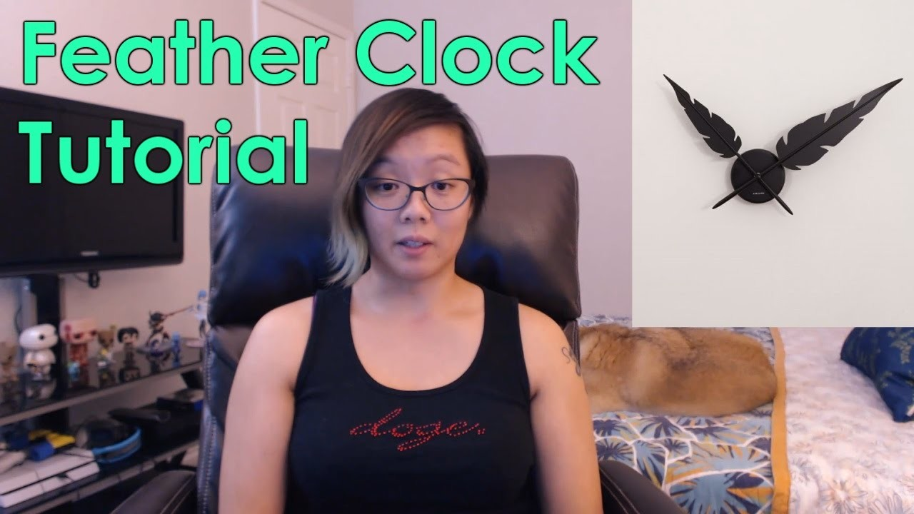 Foam Feather Clock Tutorial