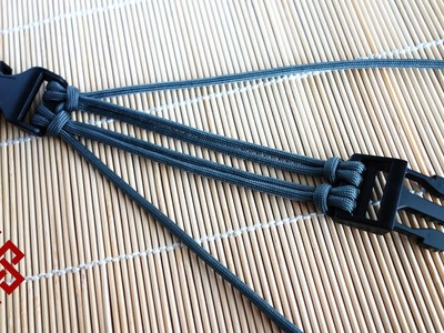 Four Strand Core Double Cow's Hitch Buckle Tutorial