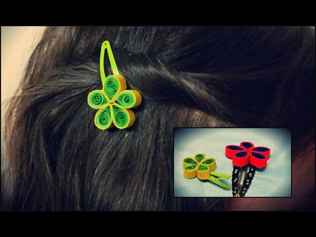 Hair Clip Quilling Tutorial - Quilling Flower Hair Clip Tutorial