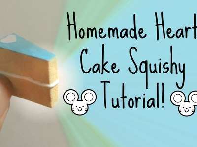 Homemade Heart Cake Squishy Tutorial!