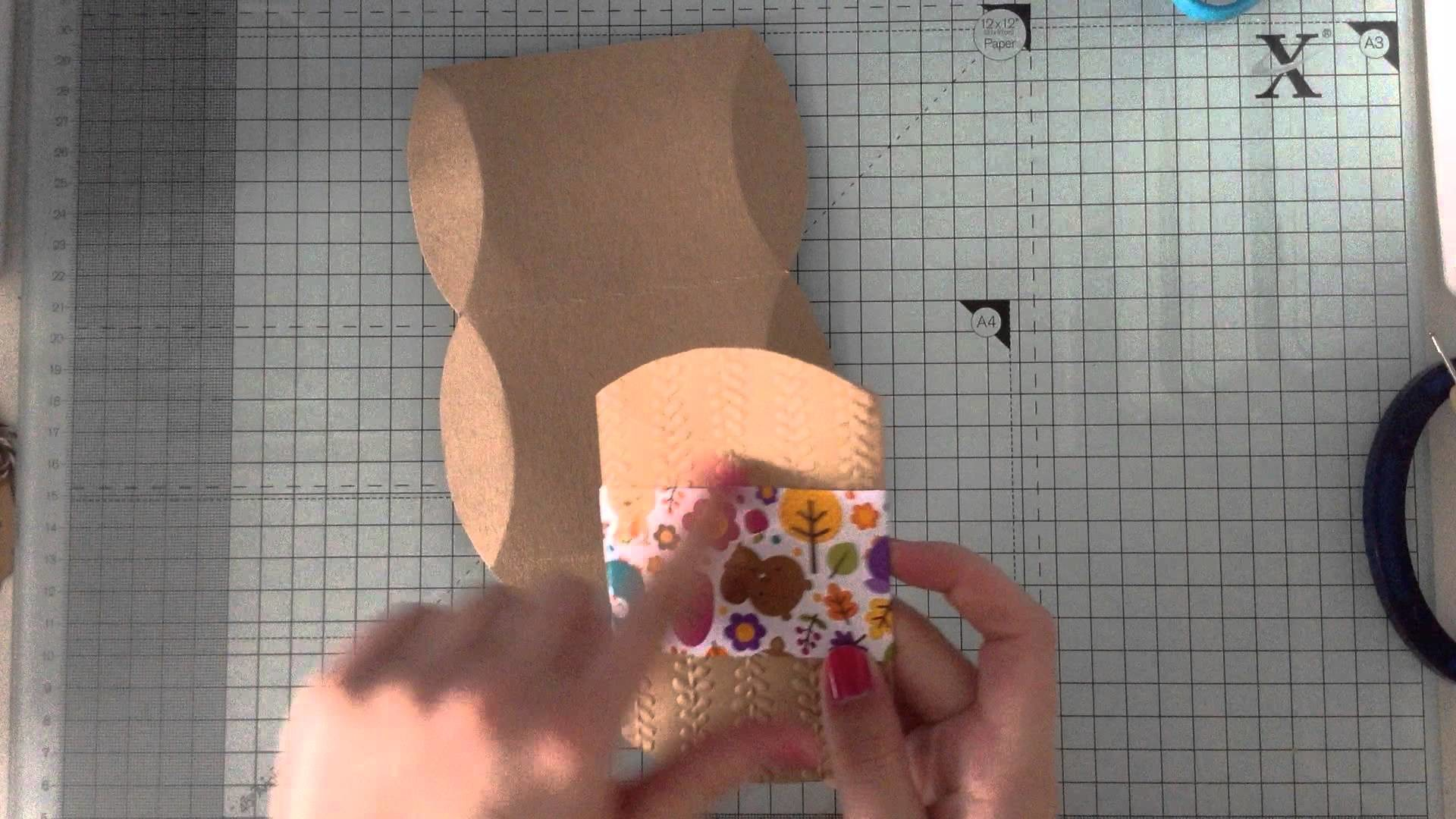 How to make a pillow box tutorial