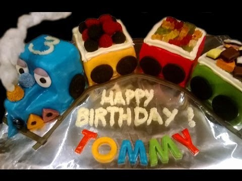 How to make a train cake - tutorial