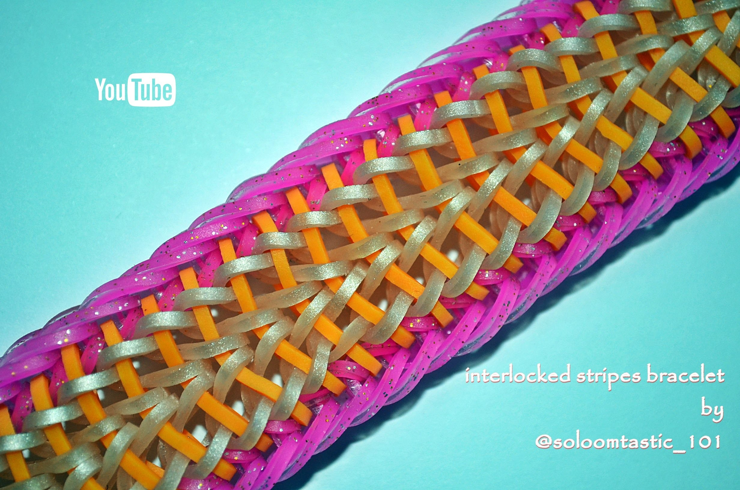 INTERLOCKED STRIPES BRACELET HOOK ONLY DESIGN TUTORIAL