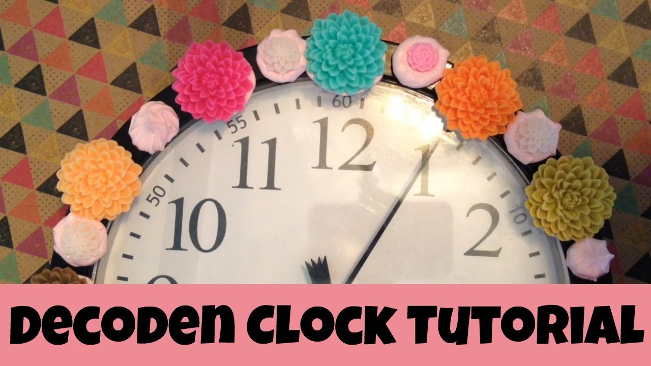 It's Decoden Time! Tutorial: Easy clock with Mod Podge Collage Clay