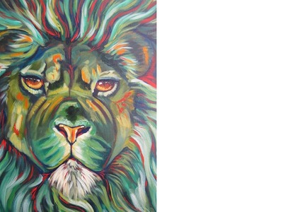 Lion | Acrylic painting wildlife tutorial | The Art Sherpa